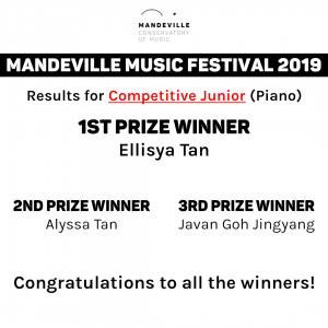 Music Festival Competition Winners (Junior, Piano)