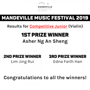 Music Festival Competition Winners (Junior, Violin)