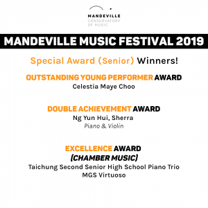 Mandeville Music Festival 2019: Special Awards (Senior)